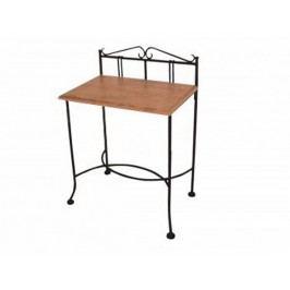 Kovaný noční stolek s masivní deskou SARDEGNA