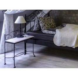 Kovaný noční stolek s masivní deskou MALAGA 0409C