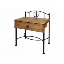 Kovový noční stolek se zásuvkou ELBA 0436