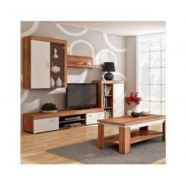 Obývací stěna Mamba švestka-bílá