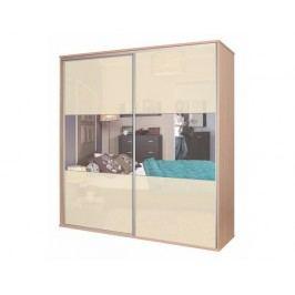 Zrcadlová šatní skříň BOS, vanilka