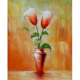 Obraz - Dva růžové kalichy