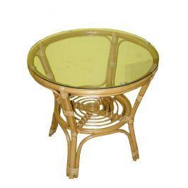 Ratanový obývací stolek BAHAMA - světlý