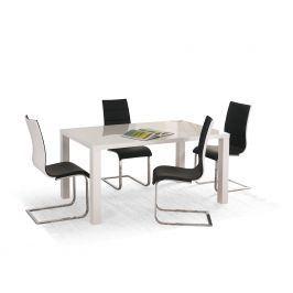 Jídelní stůl Ronald 120-160, bílý