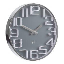Designové nástěnné hodiny Future Time FT7010GY Numbers grey 30cm