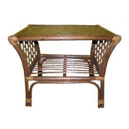 Ratanový obývací stolek MAKITA, tmavý