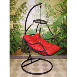 Závěsné relaxační křeslo POHODA, červený sedák