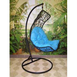 Závěsné relaxační křeslo DIANA, modrý sedák