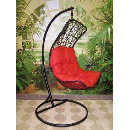 Závěsné relaxační křeslo DIANA, červený sedák