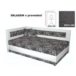 Čalouněná postel Andra 1, levý roh, 90x200 cm