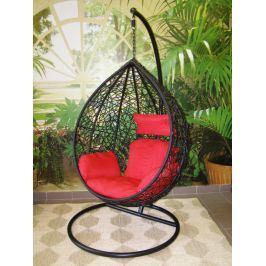 Závěsné relaxační křeslo TARA - červený sedák
