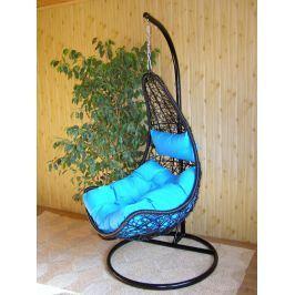 Závěsné relaxační křeslo NELA - modrý sedák