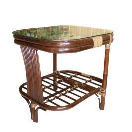 Ratanový stolek ROGER - tmavý