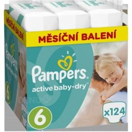 Pampers Active Baby Pleny 6 11-18kg 124 ks