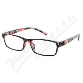 Brýle čtecí +3.50 černo-květinové