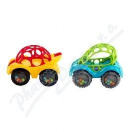 BRIGHTSTARTS Hračka OBALL Rattle&Roll autíčko 3m+