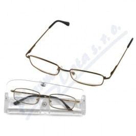Brýle čtecí American Way +2.50 šedé/hnědé v etui