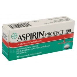 ASPIRIN PROTECT 100 100MG enterosolventní tableta 28 Léky na krevní oběh