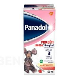 PANADOL PRO DĚTI 24 MG/ML JAHODA 24MG/ML perorální SUS 100ML II