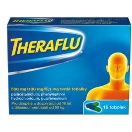 THERAFLU 500MG/100MG/6,1MG tvrdé tobolky 16  Léky na kašel