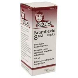 BROMHEXIN 8 KM KAPKY 8MG/ML perorální GTT SOL 1X100ML  Léky na kašel