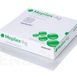 MEPILEX AG 10X10 CM, 5 KS, ANTIMIKROBIÁLNÍ PĚNOVÉ KRYTÍ SE SI
