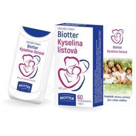 Biotter Kyselina listová pro celou rodinu tbl.60