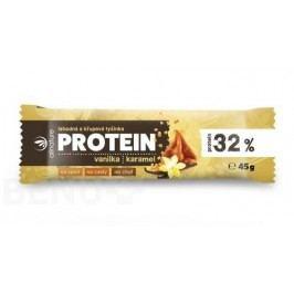 Allnature Protein. 32% křup.tyč. vanil+karamel 45g
