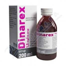 DINAREX 1,5MG/ML perorální SOL 1X200ML I  Léky na kašel