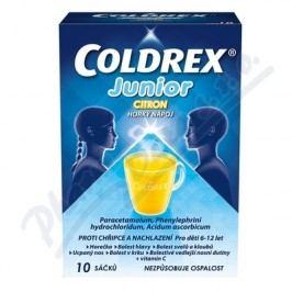 COLDREX JUNIOR CITRON 300MG/5MG/20MG perorální PLV SOL SCC 10 Léky na horečku