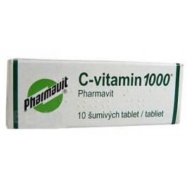 C-VITAMIN 1000 PHARMAVIT 1000MG šumivá tableta 10