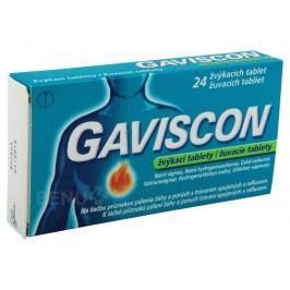GAVISCON 250MG/133,5MG/80MG žvýkací tableta 24