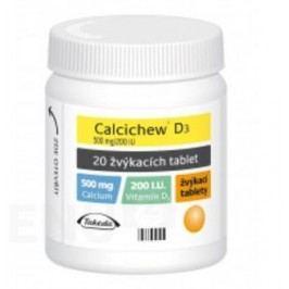 CALCICHEW D3 500MG/200IU žvýkací tableta 20 Bolest kostí