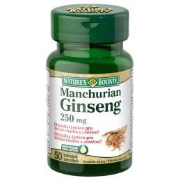 Natures Bounty Manchurian ginseng tob.50x250mg