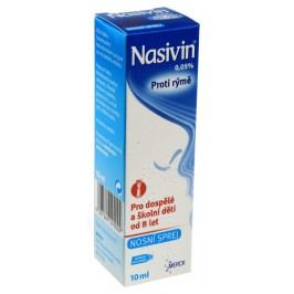 NASIVIN 0,05% 0,5MG/ML nosní podání SPR SOL 10ML-SK