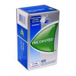 NICORETTE ICEMINT GUM 2MG léčivé žvýkací gumy 105
