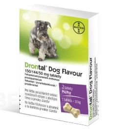 Drontal Dog Flavour 150/144/50mg pro psy tbl.2