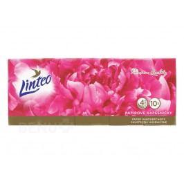 Kapesník papírový LINTEO Premium 4vrstvé 10x10ks Papírové kapesníčky