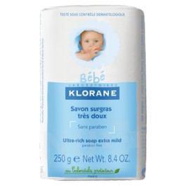 KLORANE BEBE Savon surgras 250g-výživné děts.mýdlo