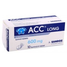 ACC LONG 600MG šumivá tableta 10  Léky na kašel