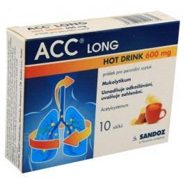 ACC LONG HOT DRINK 600MG perorální PLV SOL 10  Léky na kašel