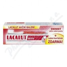 Sada Lacalut aktiv zub.pas.+kartáč.zdarma 75ml+1ks