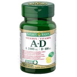 Natures Bounty Vitamin A+D tob.100x5000/400m.j.