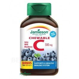 JAMIESON Vitamín C 500mg borůvka cucací tbl.120
