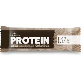 Allnature Proteinová tyčinka 32% čokoládová 35 g