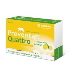 Preventan Quattro s citronovou příchutí tbl.12 Doplňky stravy na imunitu