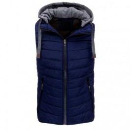 Pánská vesta s kapucí granatová