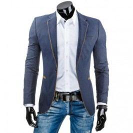 Módní pánské sako v tmavě modré barvě