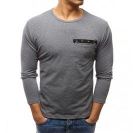 Pánské antracitové tričko s dlouhým rukávem