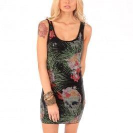 šaty dámské IRON FIST - Reina Muerte Sequin - Black S